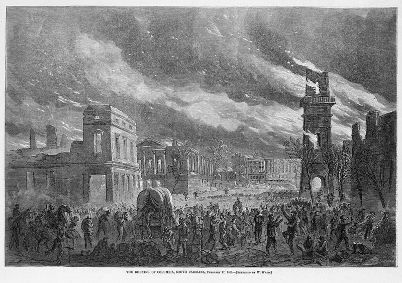 the burning of columbia