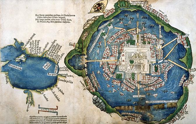 map of tenochtitlan