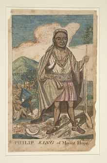 illustration of Philip King of Mount Hope By Paul Revere.