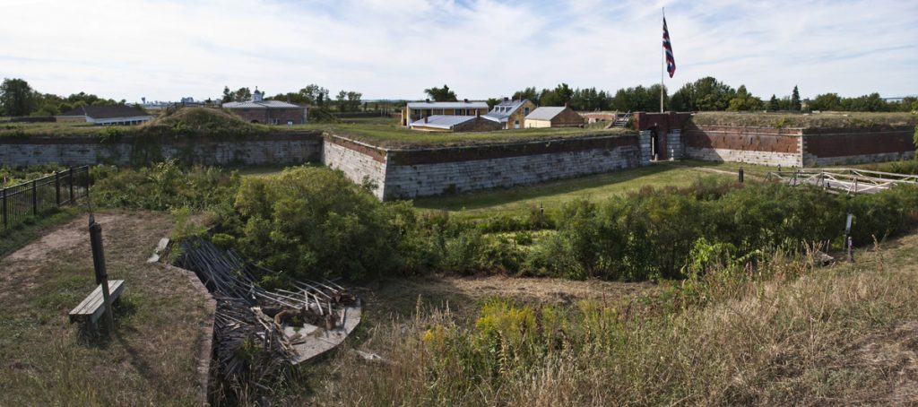 panorama of the stronghold fort mifflin